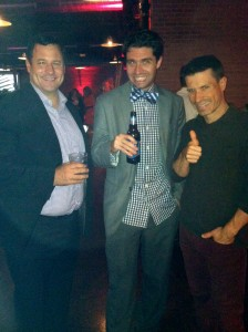 The most adorable David Rothstein and Colin Lyons (rocking a bow tie!), and my beloved Jay!