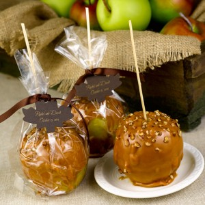 Fun fall wedding favors something 2 dance 2 caramel apples wedding favors junglespirit Image collections