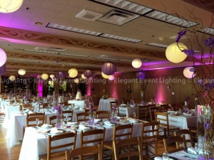 We love the whimsical look of paper lanterns. Thanks to our team at Elegant Event Lighting.