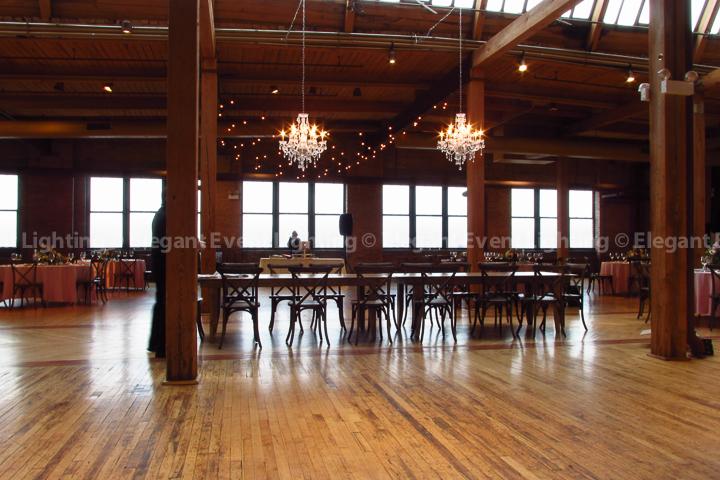 Spring Loft Wedding Crystal Chandeliers | Elegant Event Lighting