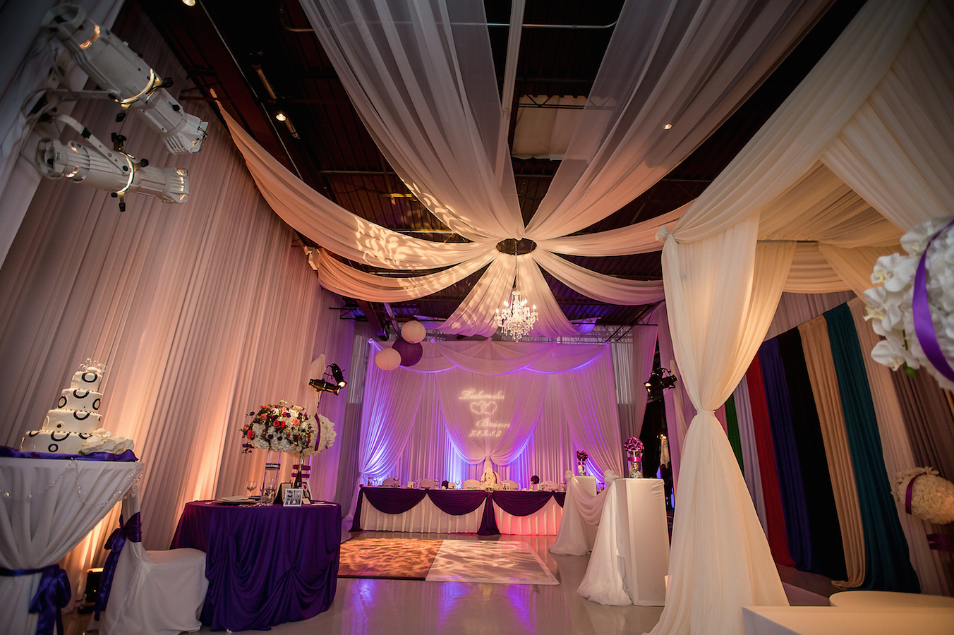 Elegant Event Lighting Showroom | Photo Courtesy Just Love Me Photography
