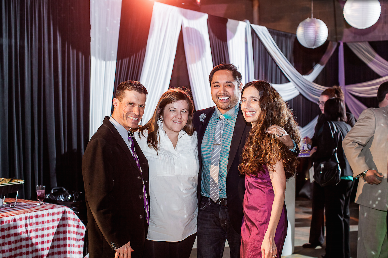 Jay & Tamara with Erin & Randy from Revel Decor | Photo Courtesy Just Love Me Photography