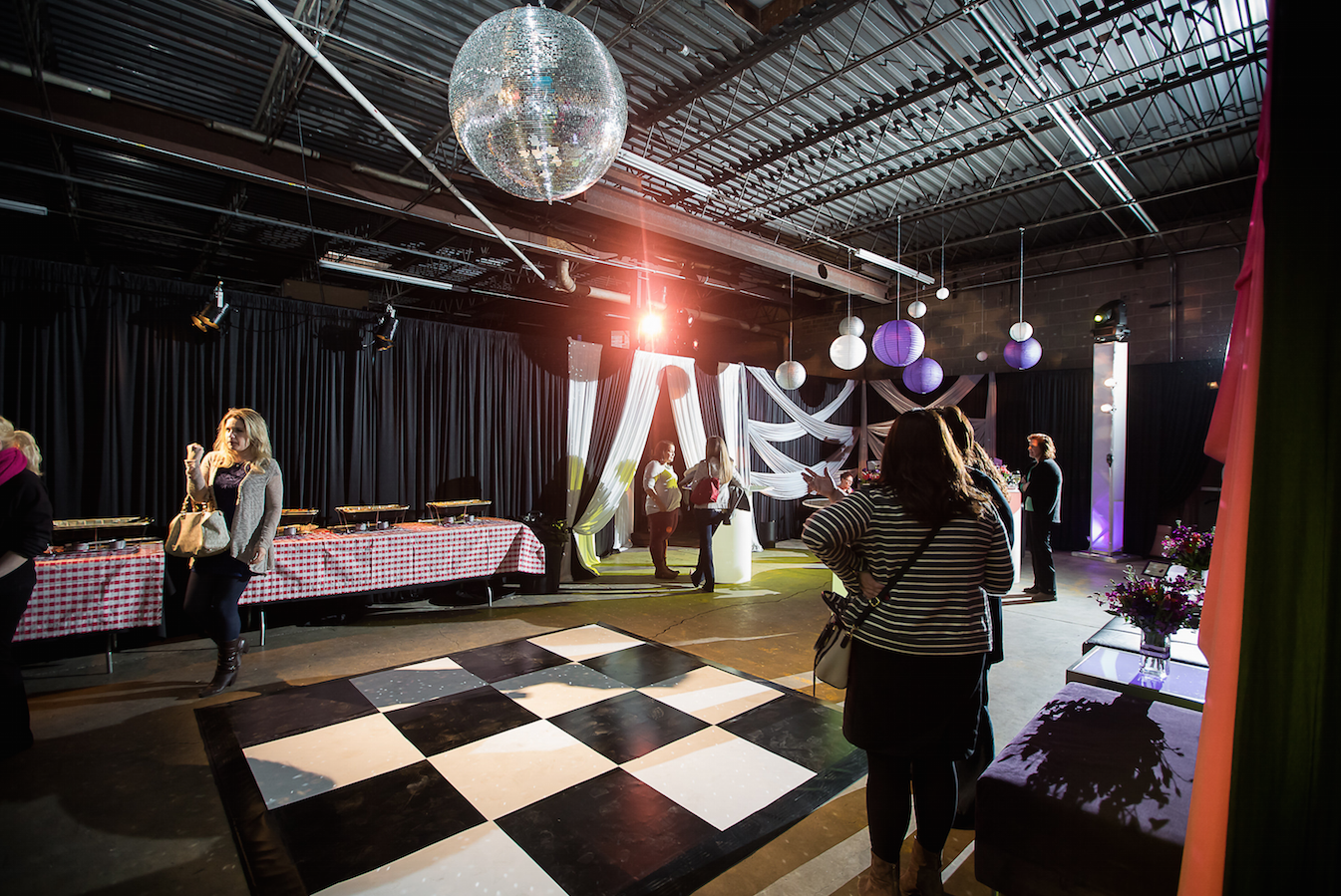 Disco Ball from Midwest Event Solutions | Photo Courtesy Just Love Me Photography