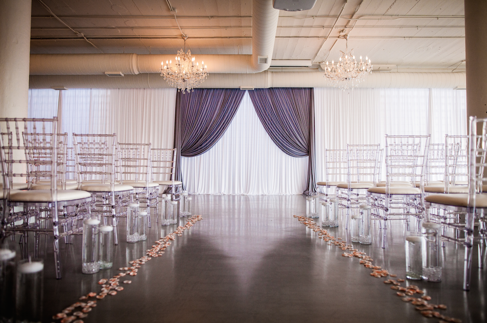 Wedding Ceremony Backdrop | Elegant Event Lighting
