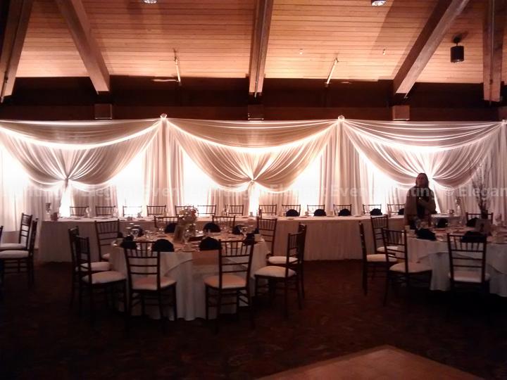 Elegant Event Lighting Backdrop Indian Lakes Resort
