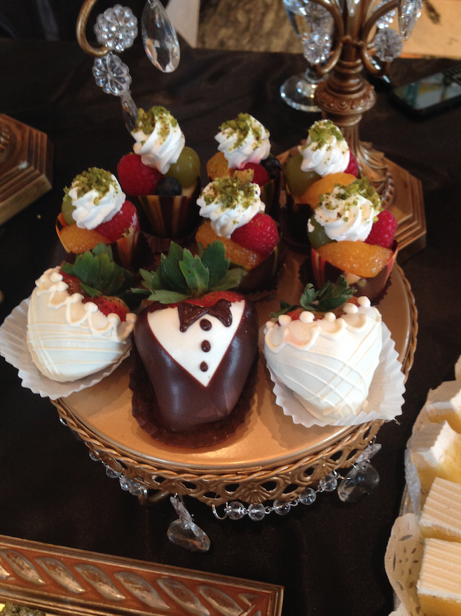 Bride & Groom Chocolate Covered Strawberries   Oak Mill Bakery