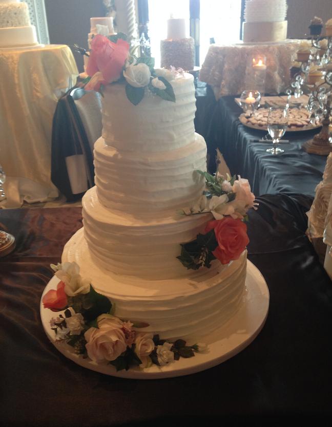 Floral Wedding Cake   Oak Mill Bakery