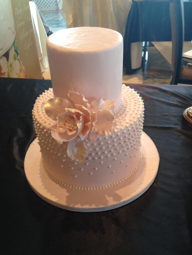 Pink Pearl Wedding Cake   Oak Mill Bakery