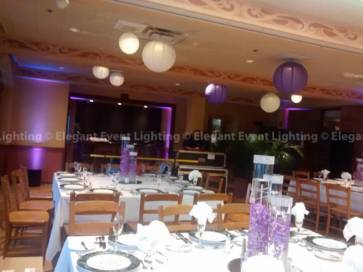 Illuminated Paper Lanterns & Uplighting | Elegant Event Lighting