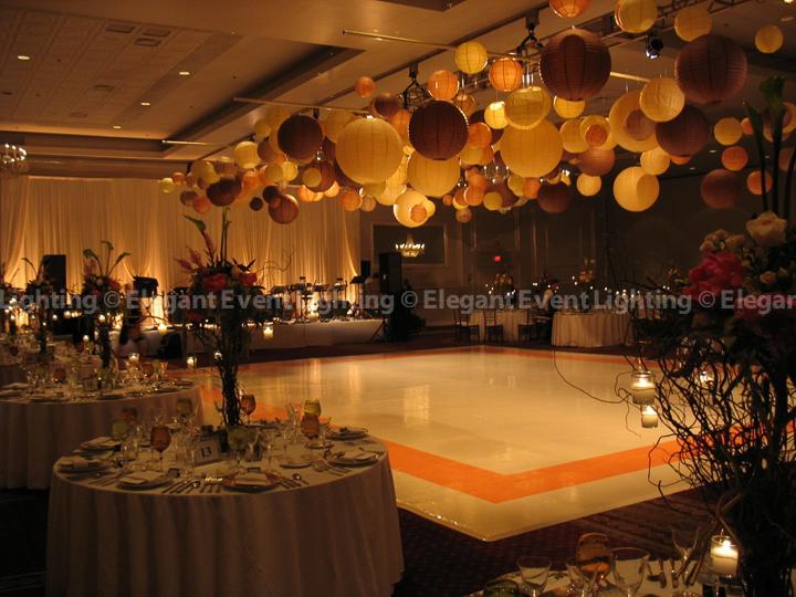 Fall Paper Lantern Design Elegant Event Lighting