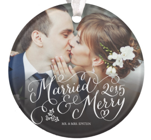 Married & Merry Ornament