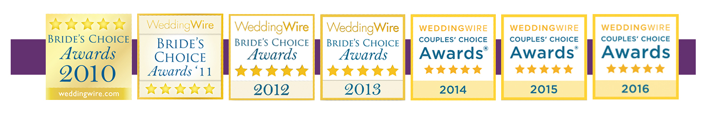 WeddingWire Couple's Choice Award 2016