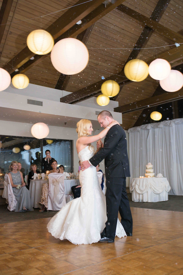 Blush Pink & Gold Illuminated Paper Lanterns | Elegant Event Lighting