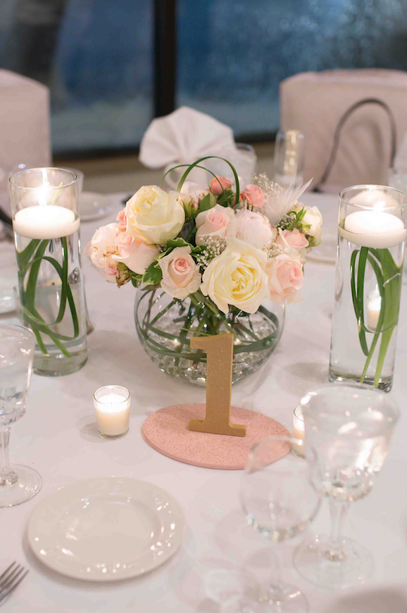 Blush Pink & Gold Table Numbers