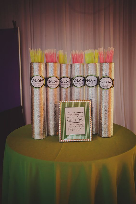 8 childhood inspired wedding ideas for 13th floor glow stick