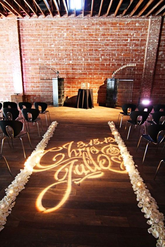 ceremony aisle monogram
