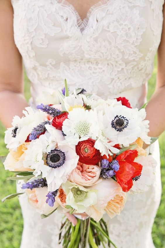 Red White Blue Wedding Inspiration