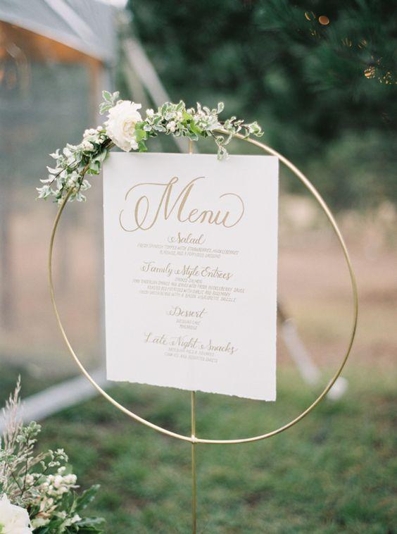 menu sign