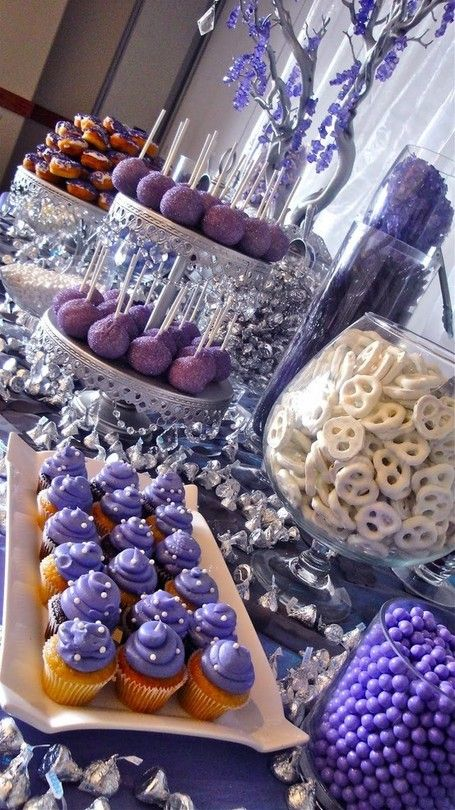 Purple Sweets Table