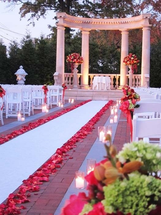 Rose Lined Aisle