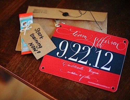 Running Inspired Wedding Ideas